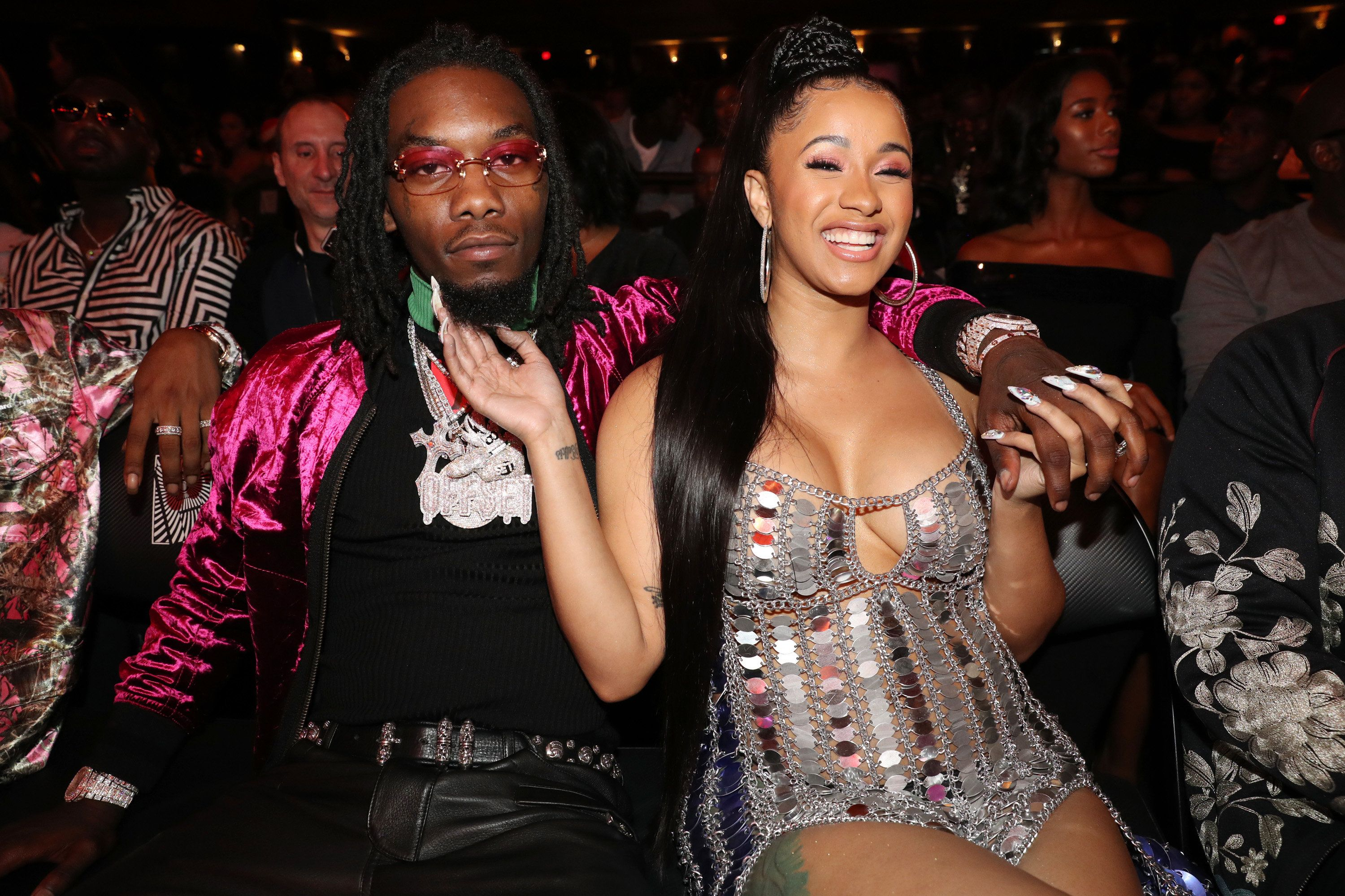 MIAMI BEACH, FL - OCTOBER 06:  (L-R) Offset and Cardi B attend the 2017 BET Hip Hop Awards on October 6, 2017 in Miami Beach, Florida.  (Photo by Johnny Nunez/WireImage)