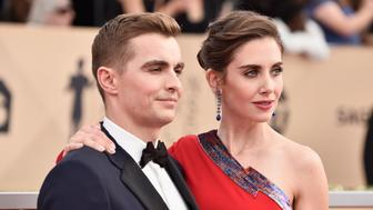LOS ANGELES, CA - JANUARY 21:  Actors Dave Franco and Alison Brie attend the 24th Annual Screen Actors Guild Awards at The Shrine Auditorium on January 21, 2018 in Los Angeles, California.  (Photo by Frazer Harrison/Getty Images)