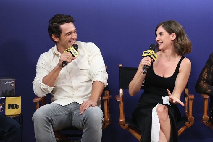 Actor James Franco and actress Alison Brie
