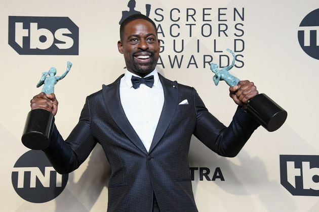 Sterling K. Brown also won for Outstanding Performance by an Ensemble in a Drama Series with his