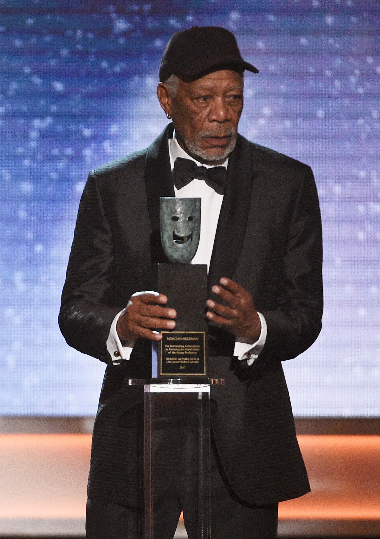 Morgan Freeman Calls Out SAG Awards Guest For Talking During His