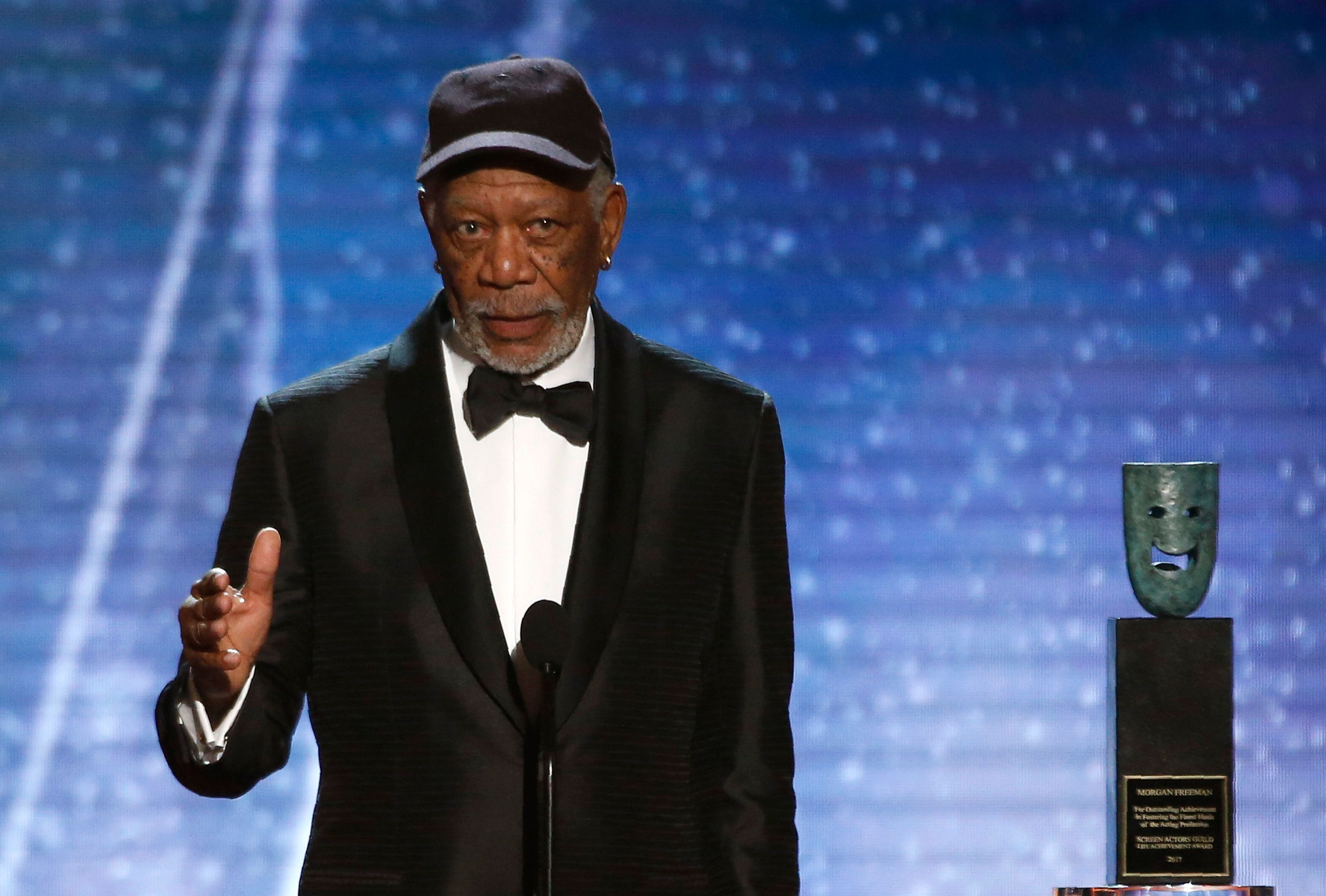 24th Screen Actors Guild Awards – Show – Los Angeles, California, U.S., 21/01/2018 – Actor Morgan Freeman accepts the Life Achievement Award. REUTERS/Mario Anzuoni