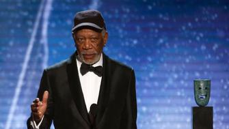 24th Screen Actors Guild Awards – Show – Los Angeles, California, U.S., 21/01/2018 – Actor Morgan Freeman accepts the Life Achievement Award. REUTERS/Mario Anzuoni