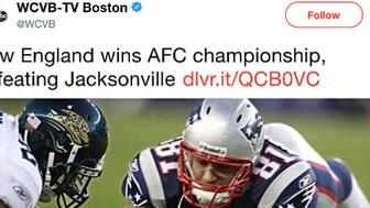 Boston TV Station Posts Aaron Hernandez Photo To Celebrate Patriots' Win