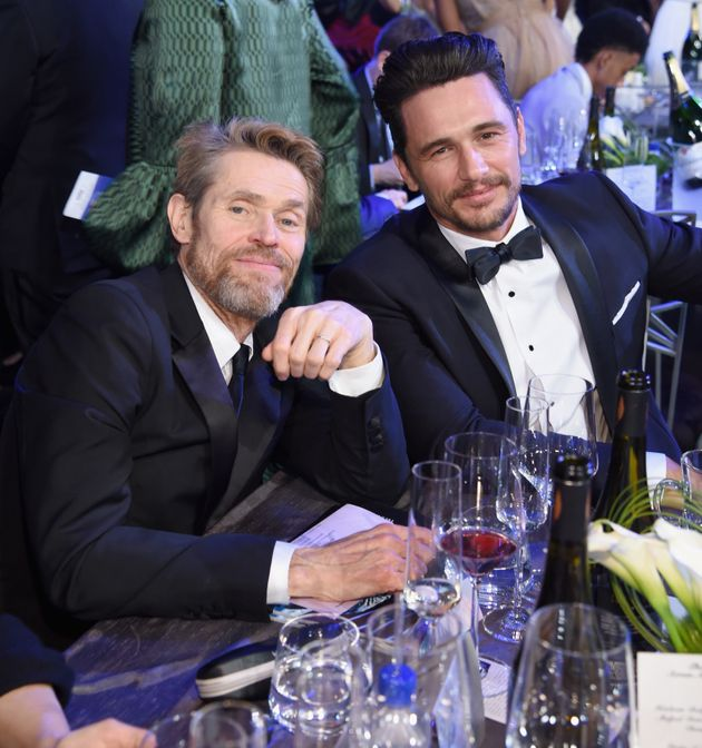 James Franco poses with Willem Dafoe during the SAG