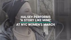 Singer Halsey Performs 'A Story Like Mine' At NYC Women's