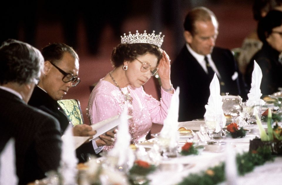 Guests are expected to follow long-standing Royal dinner etiquette of 'pacing' their meal with the