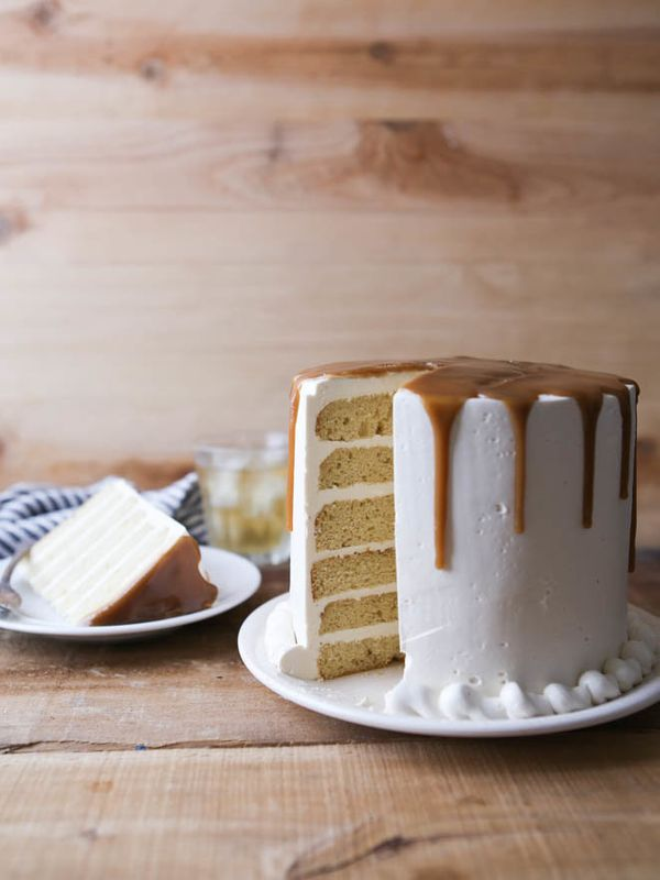 "<strong>Get the <a href=""https://www.completelydelicious.com/boubon-butterscotch-layer-cake/"" target=""_blank"">Bourbon Butters"