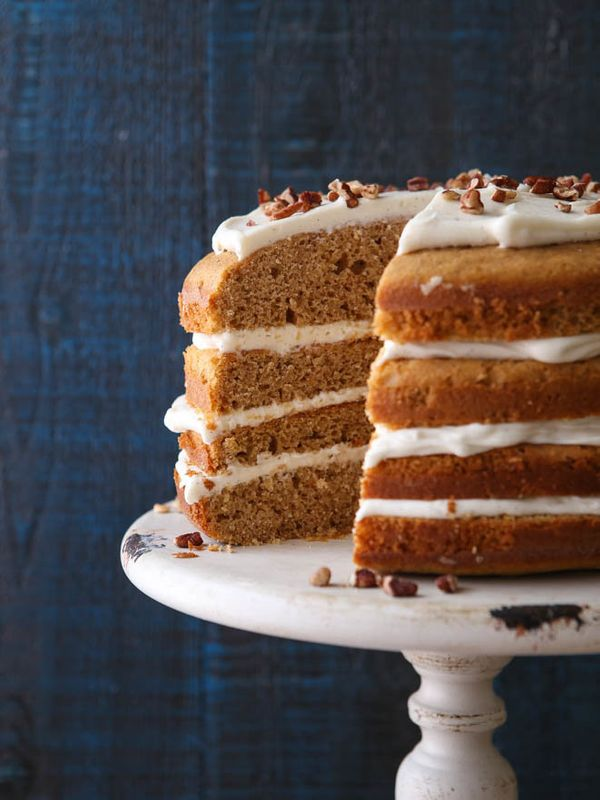 "<strong>Get the <a href=""https://www.completelydelicious.com/sweet-potato-spice-cake/"" target=""_blank"">Sweet Potato Spic"