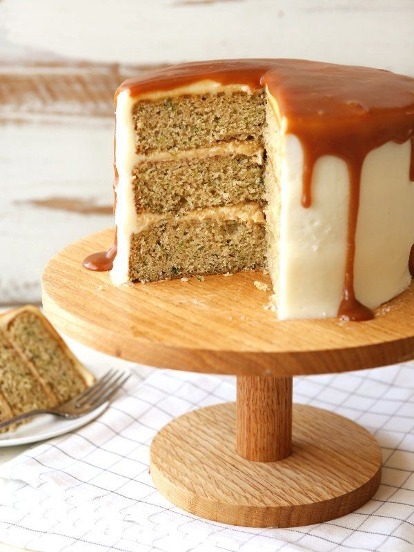 "<strong>Get the <a href=""https://www.completelydelicious.com/zucchini-caramel-cake-cream-cheese-buttercream/"" target=""_blank"""