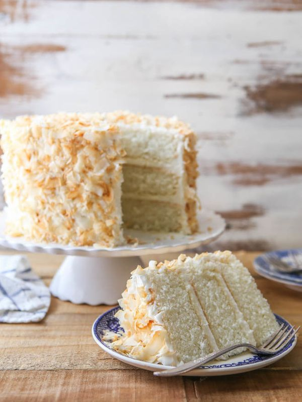 "<strong>Get the <a href=""https://www.completelydelicious.com/southern-coconut-cake/"" target=""_blank"">Southern Coconut Cake</a"