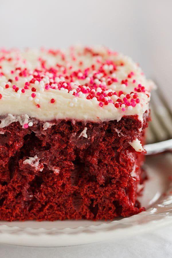 """<strong>Get the <a href=""""https://www.browneyedbaker.com/red-velvet-poke-cake/"""" target=""""_blank"""">Red Velvet Poke Cake</a> recip"""