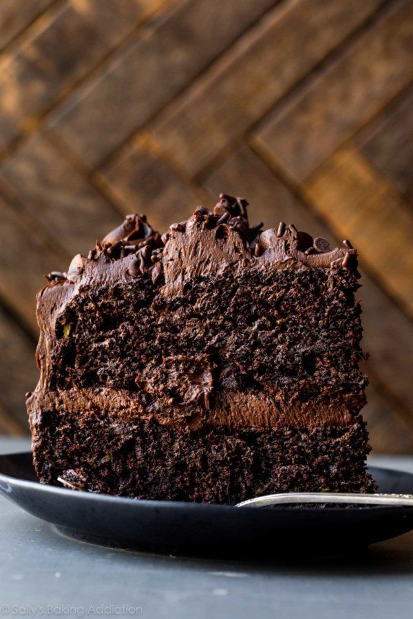 "<strong>Get the <a href=""https://sallysbakingaddiction.com/2017/07/10/chocolate-zucchini-cake/"" target=""_blank"">Chocolate Zuc"
