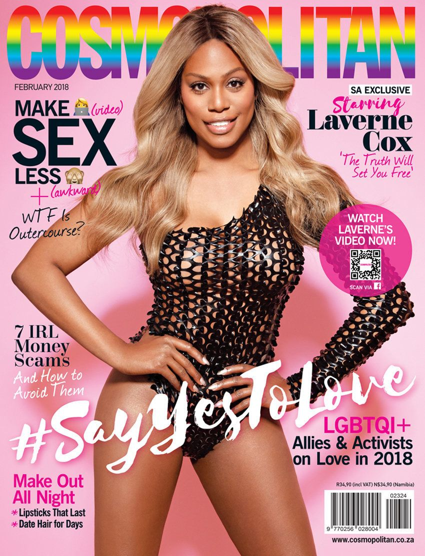 Laverne Cox Makes History As Cosmopolitan's First Transgender Cover