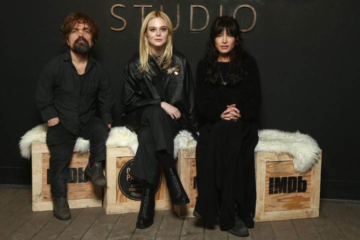 Peter Dinklage, Elle Fanning and Reed Morano at the IMDB Studio at Sundance on Jan. 21.
