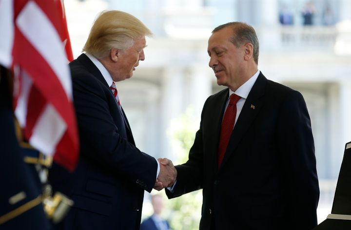 President Trump welcomed Turkey's President Recep Tayyip Erdogan to the White House in May.