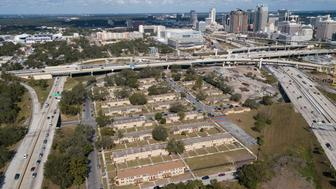 A view of the Griffin Park neighborhood in Orlando Florida