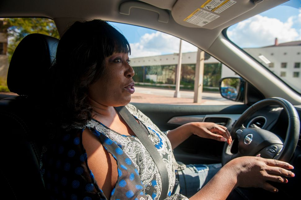 Lawanna Gelzer, an environmental justice activist, tours the Parramore neighborhood in her