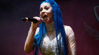 NEW ORLEANS, LA - DECEMBER 29:  Cardi B performs at The Joy Theater on December 29, 2017 in New Orleans, Louisiana.  (Photo by Erika Goldring/Getty Images)