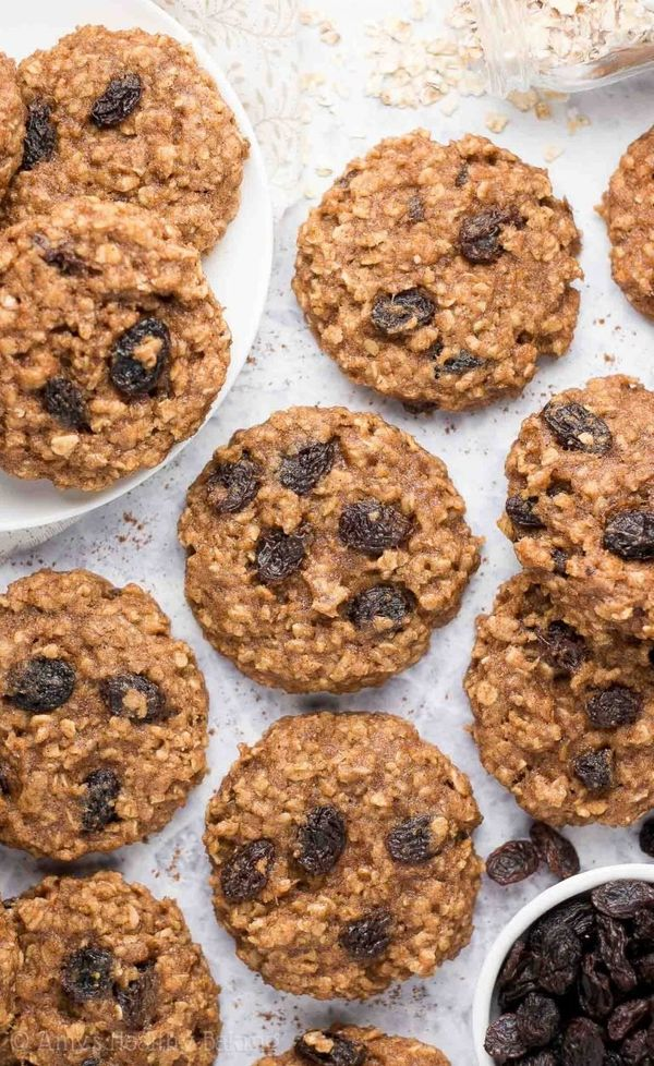 "<strong>Get the <a href=""https://amyshealthybaking.com/blog/2018/01/21/banana-oatmeal-raisin-cookies/"" target=""_blank"">Health"