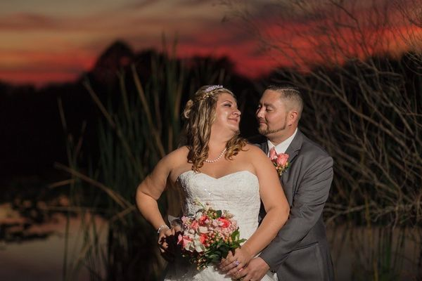 """""""This beautiful Central Florida sunset added an exclamation mark to Edna and Andrew's wedding."""" -- <i>R. Hickman Photog"""