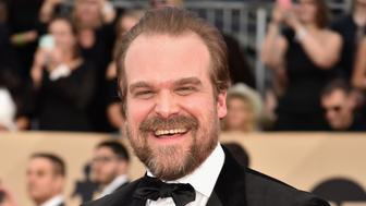 LOS ANGELES, CA - JANUARY 21:  David Harbour attends the 24th Annual Screen Actors Guild Awards at The Shrine Auditorium on January 21, 2018 in Los Angeles, California.  (Photo by Jeff Kravitz/FilmMagic)