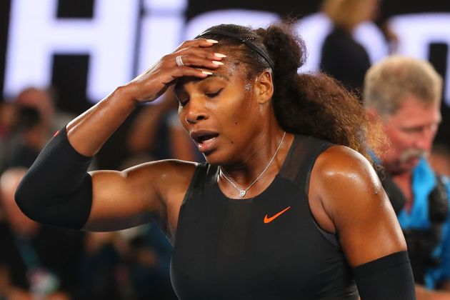 Serena Williams celebrates after winning the 2017 Australian Open. Coincidentally, this is also the face...