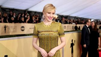 LOS ANGELES, CA - JANUARY 21:  Director Greta Gerwig attends the 24th Annual Screen Actors Guild Awards at The Shrine Auditorium on January 21, 2018 in Los Angeles, California. 27522_010  (Photo by Christopher Polk/Getty Images for Turner Image)