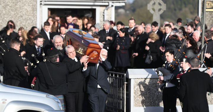 The funeral for Dolores O'Riordan took place at Saint Ailbe's Catholic church in Ballybricken on Tuesday mor