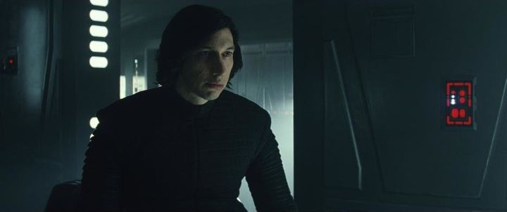 "Adam Driver in ""Star Wars: The Last Jedi."""