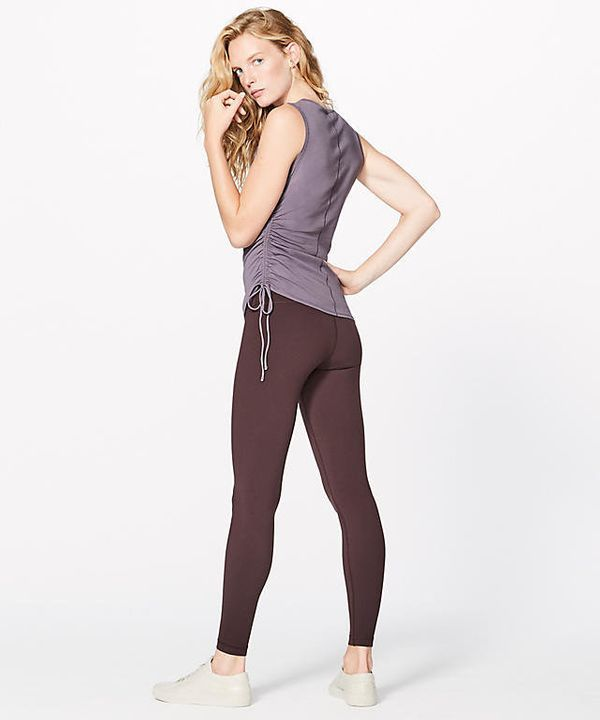 "Drawstring will almost always guarantee that your top will stay in place, and the <a href=""https://shop.lululemon.com/p/women"