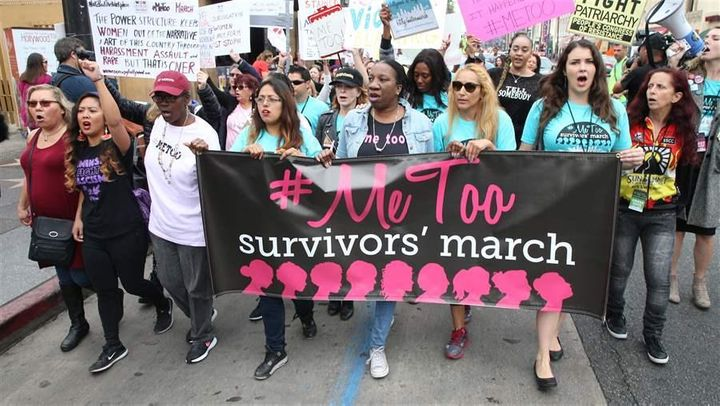 A #MeToo women's march in Hollywood, California, in November. Lawmakers around the country are revisiting sexual assault laws