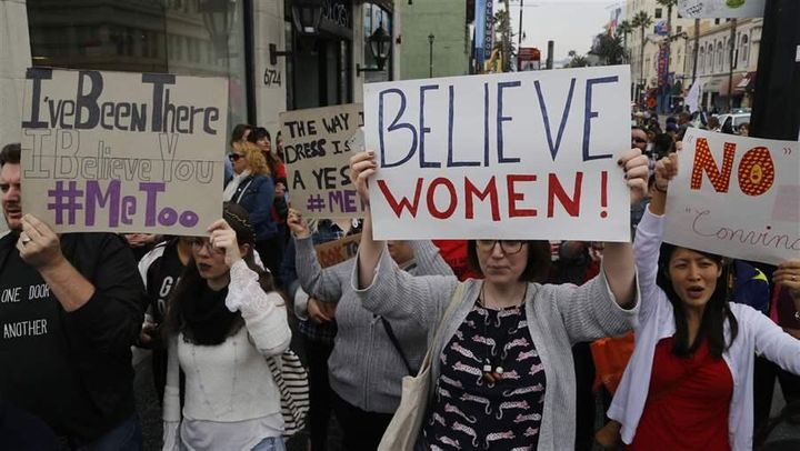 Participants march against sexual assault and harassment at the #MeToo March in Hollywood, in November. States this year will