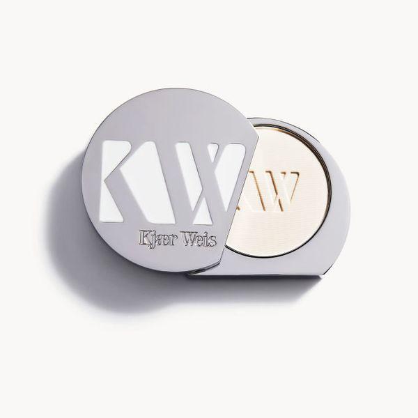 "Kjaer Weis' <a href=""https://kjaerweis.com/product/powder"" target=""_blank"">pressed powder</a> is the vegan makeup brand's new"