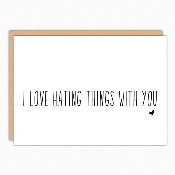 """<i>Buy it from<a href=""""https://www.etsy.com/listing/238832582/valentines-day-card-sarcastic-love-card?ga_search_query=v"""