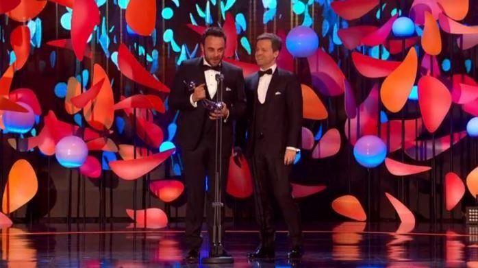 Ant McPartlin Emotional As He Picks Up 17th Consecutive Best Presenter NTA After 'Tough'