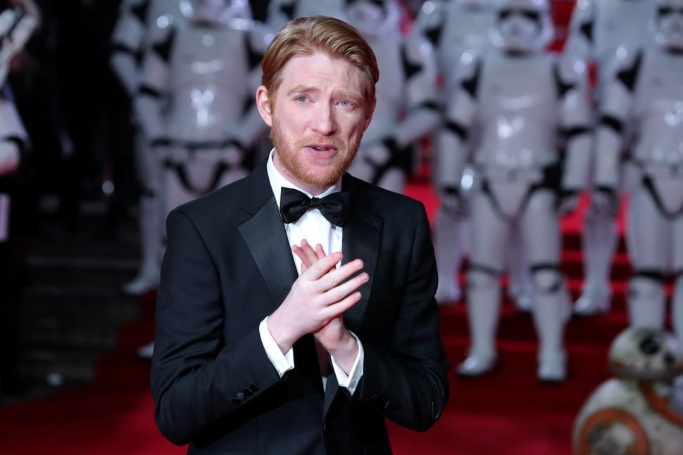 Irish actor Domhnall Gleeson has had a wide variety of roles in a recent string of movies.