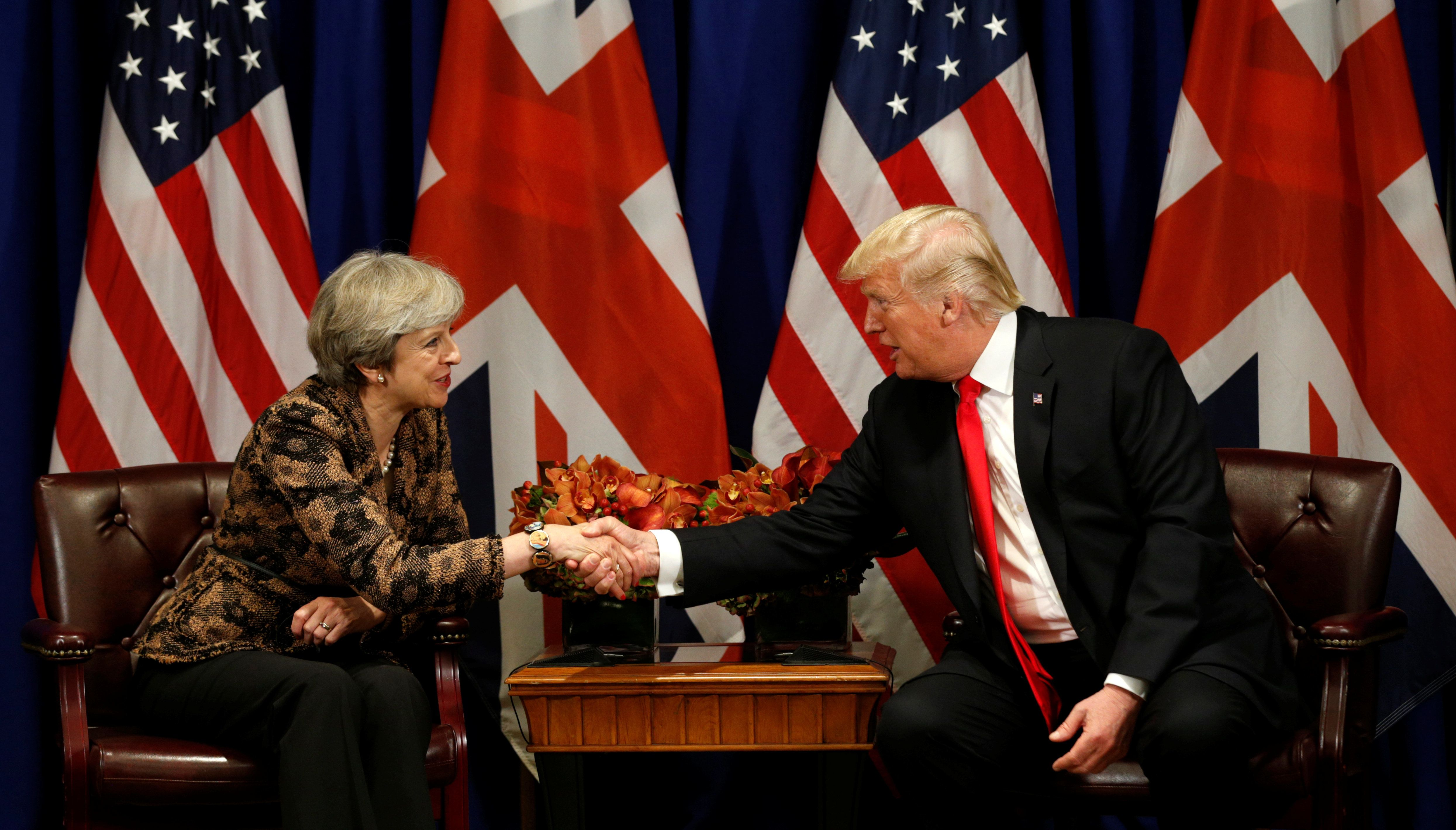 Boost For Theresa May As White House Lauds 'Special Relationship' Ahead Of Davos
