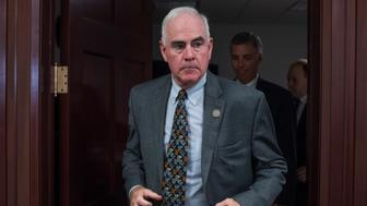 UNITED STATES - JUNE 21: Rep. Patrick Meehan, R-Pa., leaves a meeting of the House Republican Conference in the Capitol on June 21, 2017. (Photo By Tom Williams/CQ Roll Call)