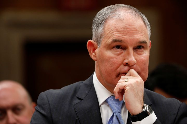 "Scott Pruitt, head of the Environmental Protection Agency, claims his limitation on scientific advisers will ""strengthen memb"
