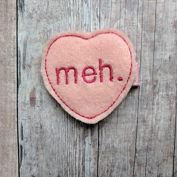 """Get it <a href=""""https://www.etsy.com/listing/570787980/meh-heart-clip-pink-embroidered-acrylic?ga_order=most_relevant&ga_"""