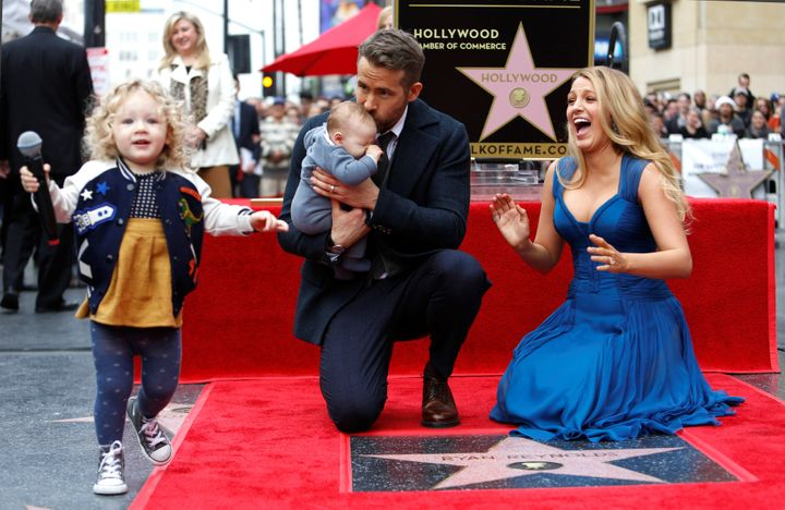 Ryan Reynolds, Blake Lively and their two daughters, James and Ines, on Dec. 15, 2016.