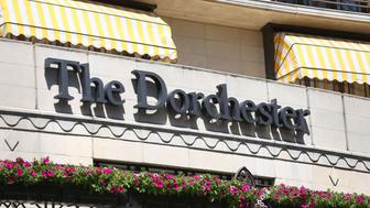 """File photo dated 10/06/14 of the Dorchester hotel in London, as the organisers of a men-only charity dinner at the hotel have said they are """"appalled"""" by allegations of sexual harassment at the event."""