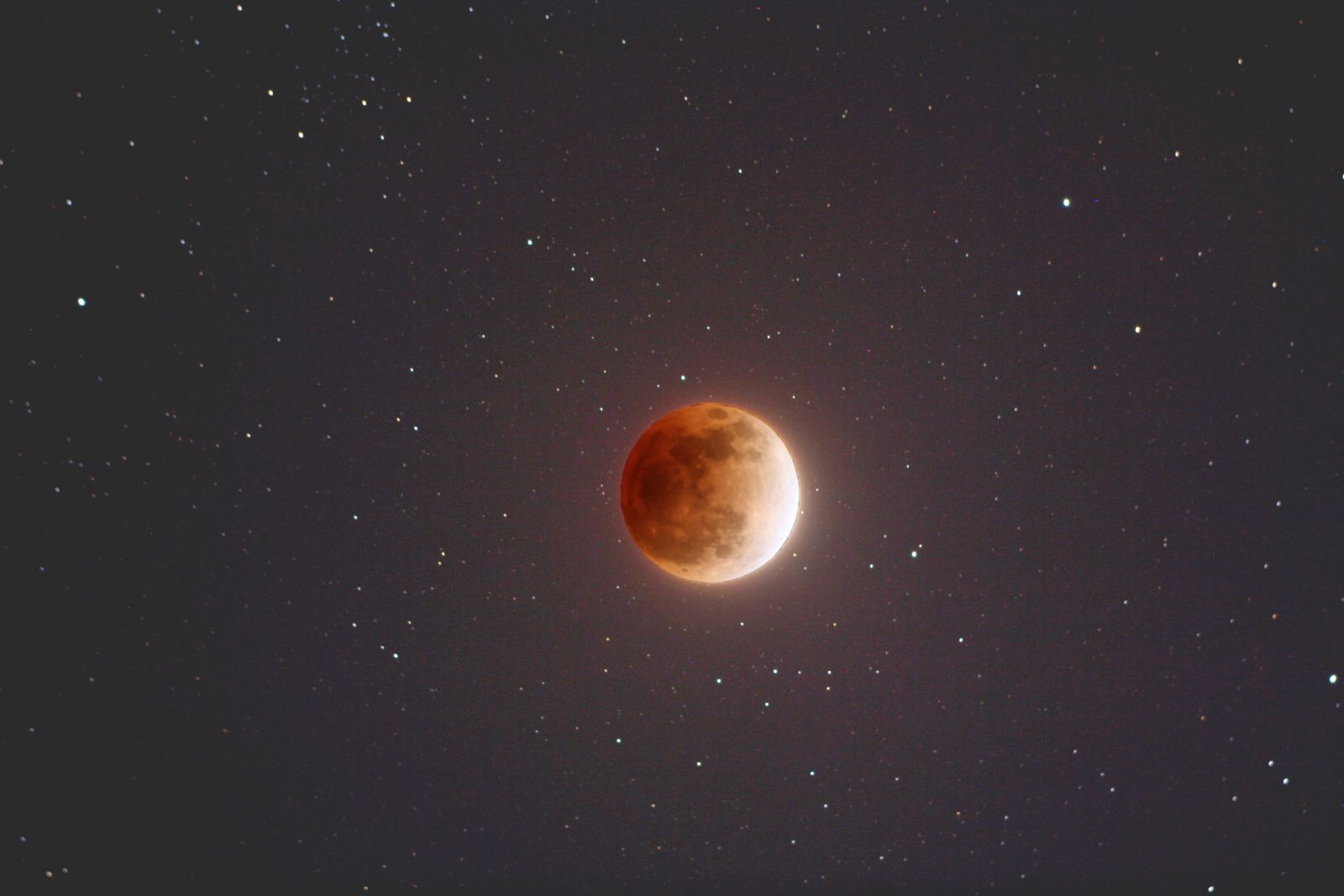 An illustration of a super blue blood moon from