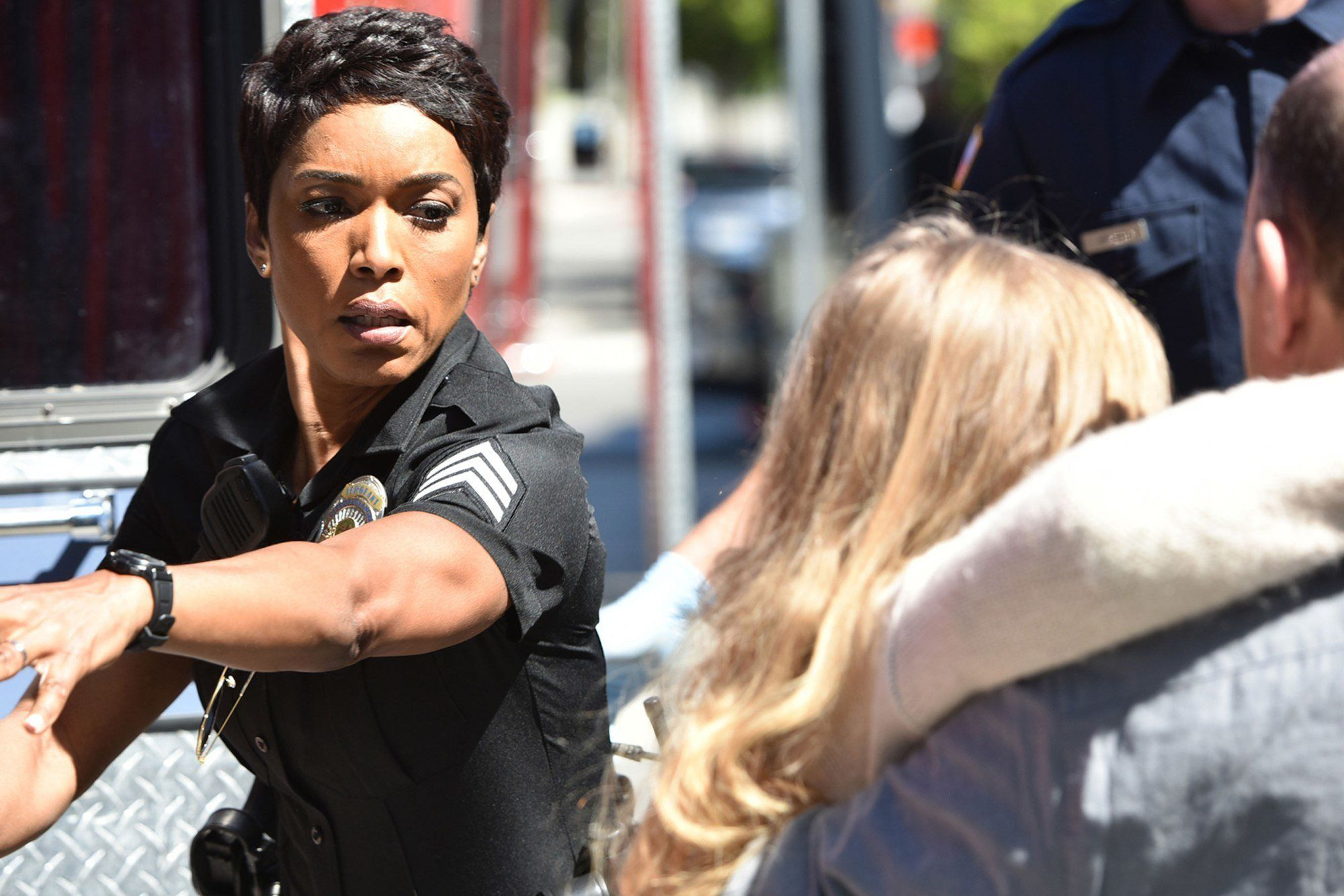 9-1-1: Angela Bassett in the series premiere episode of 9-1-1 airing Wednesday, Jan 3 (9:00-10:00PM ET/PT) on FOX. CR: FOX. © 2018 FOX Broadcasting.