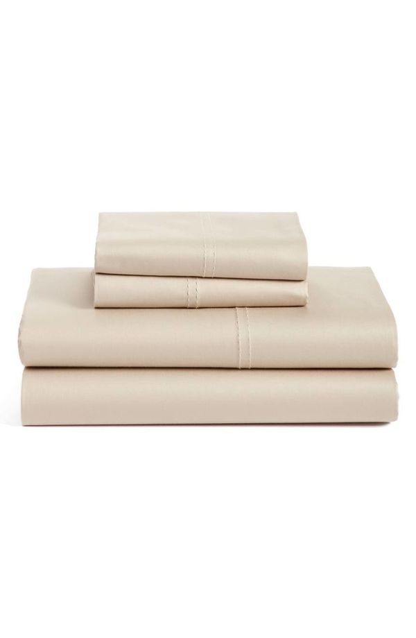 """New bedsheets can make a room. This <a href=""""https://shop.nordstrom.com/s/nordstrom-at-home-400-thread-count-organic-cotton-s"""