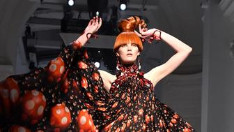 PARIS, FRANCE - JANUARY 24:  A model walks the runway during the Jean-Paul Gaultier Haute Couture Spring Summer 2018 show as part of Paris Fashion Week on January 24, 2018 in Paris, France.  (Photo by Dominique Charriau/WireImage)