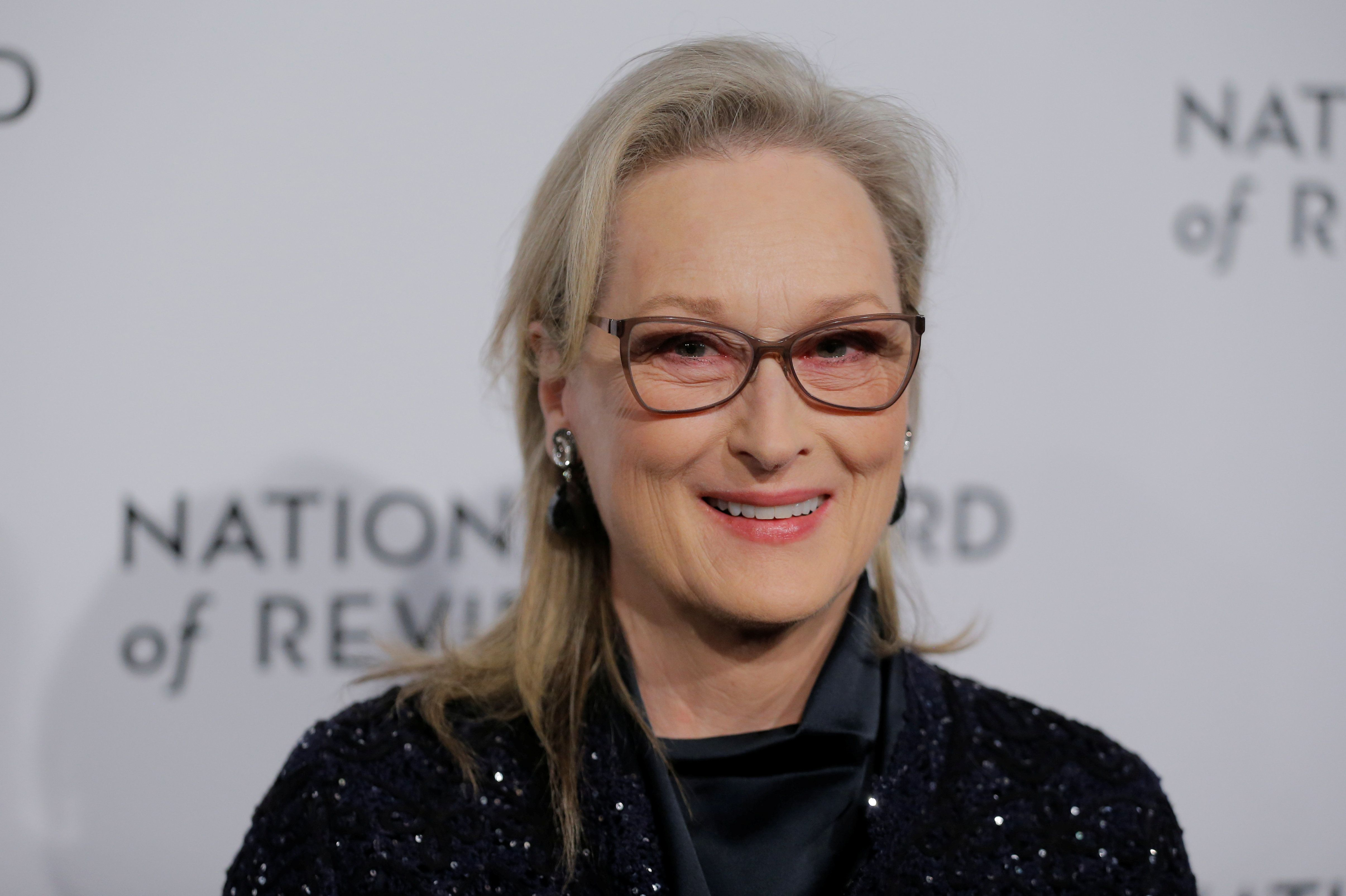 Actor Meryl Streep arrives with Kate Capshaw to attend the National Board of Review awards gala in New York, U.S., January 9, 2018.  REUTERS/Lucas Jackson