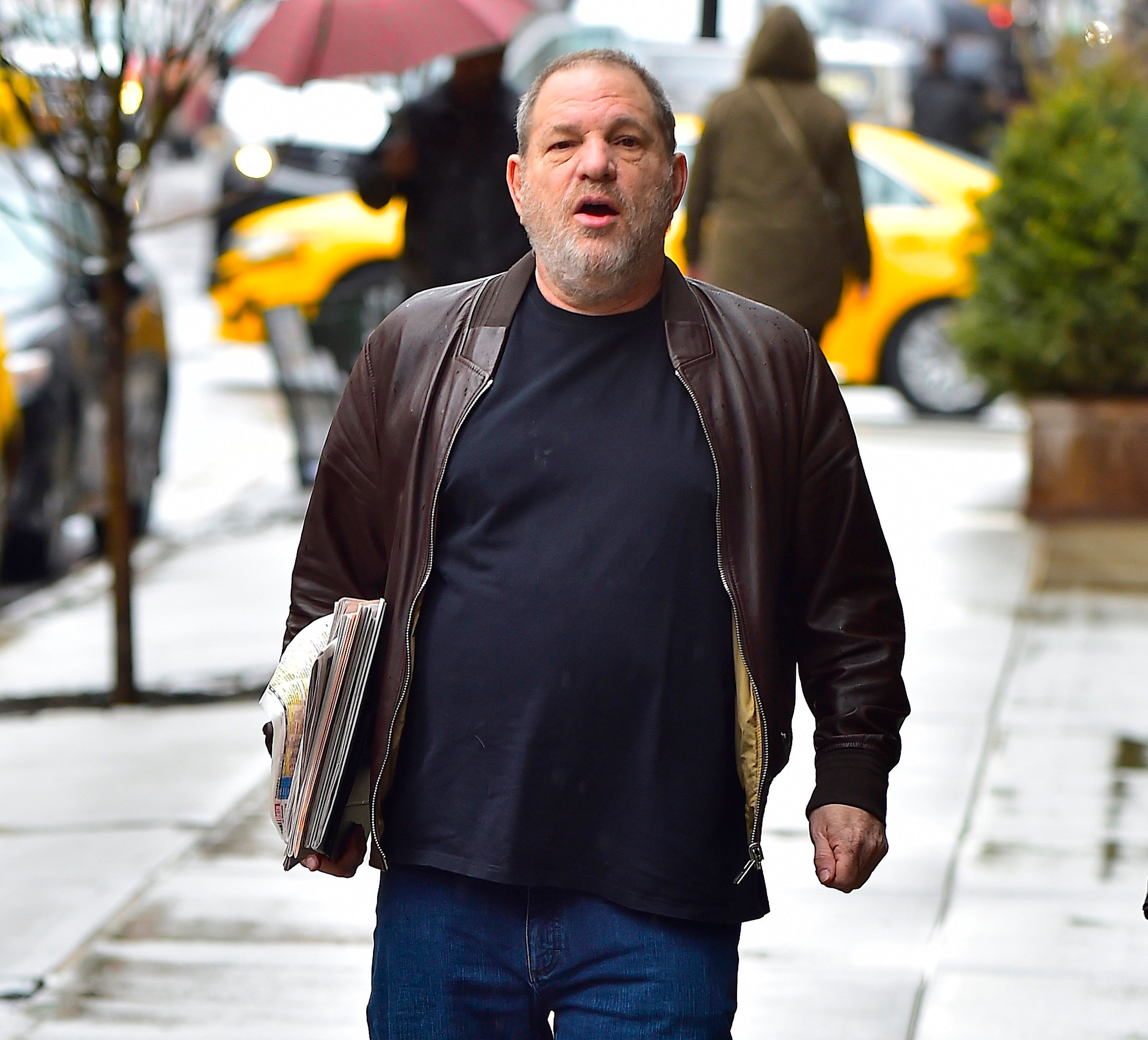 NEW YORK, NY - MARCH 07:  Harvey Weinstein is seen in Tribeca  on March 7, 2017 in New York City.  (Photo by Alo Ceballos/GC Images)