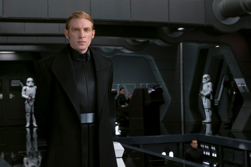 "Gleeson in ""Star Wars: The Last Jedi."""